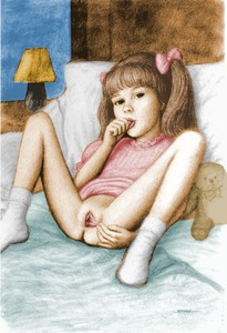 Rating: Explicit Score: 43 Tags: 1girl ankle_socks bangs bed blunt_bangs bottomless bow brian_babinski clitoral_glans clitoral_hood clitoris coloured fingering flat_chest hair_bow hair_ribbon knees_up lamp legs_apart looking_at_viewer on_bed pillow pussy ribbon sitting socks solo spread_legs spread_pussy stuffed_animal stuffed_toy teddy_bear thumb_sucking twin_tails User: girlluver