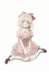 Rating: Safe Score: 2 Tags: 1girl aoki_(fumomo) bangs blonde_hair blue_eyes bow collared_dress dress full_body hair_bow knees_together_feet_apart mary_janes mother_(game) mother_2 parted_lips paula_jones pink_dress puffy_short_sleeves puffy_sleeves red_bow red_footwear shoes short_hair short_sleeves simple_background sitting socks solo white_background white_legwear User: DMSchmidt