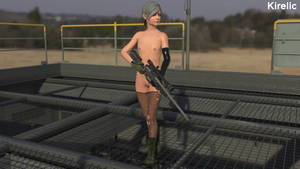 Rating: Explicit Score: 5 Tags: 3dcg arm_gloves combat_boots fishnet_legwear flat_chest kirelic metal_gear_solid metal_gear_solid_4 nipples nude photorealistic posing sniper_rifle sunny_emmerich sunny_gurlukovich User: cugomi
