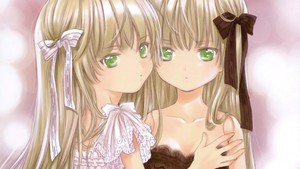 Rating: Safe Score: 1 Tags: 2girls age_difference amano_sakuya bangs bare_shoulders blonde_hair blunt_bangs cordelia_gallo doll doll_joints gosick green_eyes hair_ribbon highres looking_at_viewer mother_and_daughter multiple_girls official_art ribbon victorica_de_blois wallpaper User: Domestic_Importer