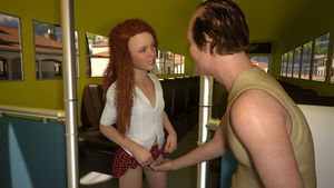 Rating: Questionable Score: 15 Tags: 1boy 1girl 3dcg age_difference fingering freckles long_hair lunarctic photorealistic red_hair school_bus school_uniform sitting skirt skirt_lift smile standing User: fantasy-lover