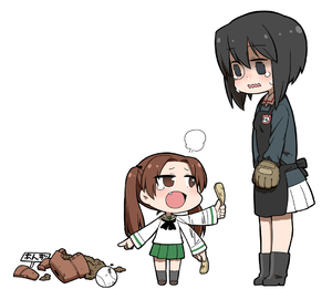 Rating: Safe Score: 0 Tags: 2girls apron bangs baseball black_boots black_eyes black_hair black_legwear blouse blue_jacket blush boots brown_eyes brown_hair brown_shoes chintai_(mansyontintai) crying fang flower_pot food full_body fume girls_und_panzer green_skirt hair_ribbon jacket kadotani_anzu kawashima_momo loafers long_hair long_sleeves looking_at_another mansyontintai military military_uniform miniskirt monocle multiple_girls neckerchief open_mouth parted_bangs pleated_skirt potato_chips ribbon school_uniform serafuku shoes short_hair simple_background skirt socks standing sweet_potato tearing_up tied_hair twin_tails uniform wavy_mouth white_background white_blouse white_skirt younger User: ShizKoE2