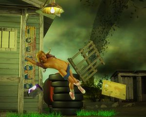Rating: Questionable Score: 4 Tags: 1girl 3dcg blonde_hair english flat_chest navel nipples open_mouth pantsu pantsu_around_one_leg photorealistic pussy shadow shoes socks tire tornado twin_tails twitchster underwear User: fantasy-lover