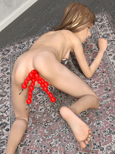 Rating: Explicit Score: 3 Tags: 1girl 3dcg anal anal_beads anal_insertion chain collar multiple_insertions nipple_piercing nipple_torture nipples nude object_insertion piercing pregnant pussy sex_toy ygalax User: laylomo