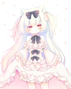 Rating: Safe Score: 1 Tags: 1girl animal_ears azur_lane bangs bare_shoulders black_bow blush bow breasts cat_ears closed_mouth dress eyebrows_visible_through_hair hair_bow head_tilt long_hair long_sleeves looking_at_viewer medium_breasts off-shoulder_dress off_shoulder petals red_eyes sakurato_ototo_shizuku silver_hair skirt_hold smile solo two_side_up very_long_hair white_bow white_dress wide_sleeves yukikaze_(azur_lane) User: DMSchmidt