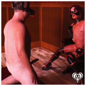 Rating: Explicit Score: 4 Tags: 1boy 1girl 3dcg age_difference arm_gloves bdsm boots brown_hair collar dog_costume erection femdom flat_chest freckles kneeling lace_legwear latex latex_legwear legwear lil-heart looking_at_partner mask nipples nude penis photorealistic short_hair sitting thigh_boots thighhighs uncensored User: Software