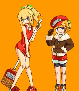Rating: Safe Score: 2 Tags: 2girls artist_request capcom cosplay costume_switch dress dress_tug embarrassed hand_in_pocket hat hat_tip jacket multiple_girls red_skirt rockman rockman_(classic) rockman_dash roll roll_caskett skirt User: DMSchmidt