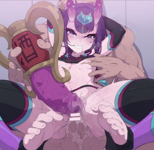 Rating: Explicit Score: 7 Tags: 1boy 1girl anus ass bangs bar_censor bare_shoulders black_legwear blush breasts carrying censored detached_sleeves dildo double_penetration dudou eyeliner fate/grand_order fate_(series) feet forehead_jewel fundoshi headpiece heart hetero horns japanese_clothes kakure_eria lifting_person looking_at_viewer makeup navel nipples oni oni_horns penis purple_eyes purple_hair pussy sex sex_toy short_hair shuten_douji_(fate/grand_order) shuten_douji_(halloween)_(fate) small_breasts smile solo_focus spread_legs sweat thighs vaginal waist User: DMSchmidt