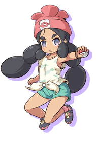 Rating: Safe Score: 0 Tags: 1girl beanie black_footwear black_hair blush colored_shadow cosplay creatures_(company) drop_shadow food_print full_body game_freak green_shorts hapu'u_(pokemon) hat holding holding_poke_ball long_hair looking_at_viewer low_twintails mizuki_(pokemon) mizuki_(pokemon)_(cosplay) nekono_rin nintendo outstretched_arm parted_lips poke_ball poke_ball_(generic) pokemon pokemon_(game) pokemon_sm print_shirt purple_eyes red_hat shadow shirt shoes short_sleeves shorts solo thick_eyebrows twin_tails very_long_hair white_background white_shirt User: Domestic_Importer