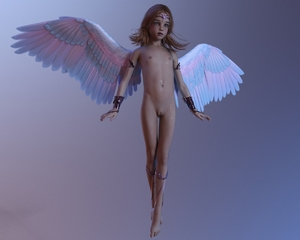 Rating: Questionable Score: 28 Tags: 1girl 3dcg angel barefoot dirtysmile flat_chest freckles green_eyes looking_at_viewer navel nipples nude photorealistic pussy rape red_hair wings User: fantasy-lover