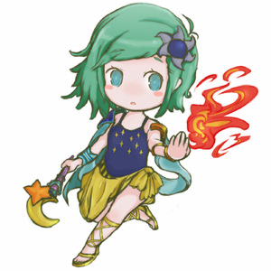 Rating: Safe Score: 0 Tags: 1girl :o aqua_eyes aqua_hair bangs blue_leotard blush_stickers bracelet bright_pupils chibi crescent eyebrows_visible_through_hair final_fantasy final_fantasy_iv fire hair_ornament holding holding_wand jewellery leotard looking_at_viewer no_legwear parted_lips rydia sandals sarmar short_hair simple_background skirt solo spaulders star swept_bangs wand white_background yellow_skirt User: DMSchmidt