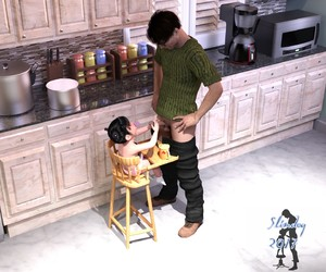 Rating: Explicit Score: 42 Tags: 1boy 1girl 2017 3dcg age_difference artist_name black_hair full_body handjob high_chair highres indoors kitchen original pacifier pants_down penis photorealistic sitting slimdog standing testicles toddlercon uncensored User: Domestic_Importer