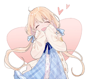 Rating: Safe Score: 0 Tags: 1girl ^_^ ame bangs blonde_hair blue_dress blue_ribbon closed_eyes dress eyebrows_visible_through_hair frilled_dress frills futaba_anzu hair_ornament hair_ribbon hands_on_own_cheeks hands_on_own_face happy heart highres idolmaster idolmaster_cinderella_girls long_hair ribbon simple_background smile sweater_vest twin_tails unbuttoned very_long_hair User: Domestic_Importer