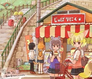 Rating: Safe Score: 1 Tags: 6+girls :3 :d :t adapted_costume ahoge alternate_costume alternate_hair_colour alternate_legwear alternate_universe animal_ears animal_hood animal_print aqua_hair artist_name ass awning backpack backpack_removed bag bag_removed banner bare_legs bicycle bicycle_basket black_hair black_legwear black_ribbon blonde_hair blue_skirt blue_vest blush blush_stickers brick_wall brown_dress brown_eyes brown_footwear brown_hair brown_shoes building bush buttons cash_register collared_shirt common_raccoon_(kemono_friends) contemporary cowboy_shot dated day directional_arrow display dress eating eurasian_eagle_owl_(kemono_friends) extra_ears eyebrows_visible_through_hair facing_away faucet fence fennec_(kemono_friends) flower food fox_ears fox_tail full_body gradient_hair grass grey_dress grey_eyes grey_hair ground_vehicle handbag hat hiding holding holding_food hood hoodie hose japari_symbol jitome kaban_(kemono_friends) kemono_friends knees_together_feet_apart ladder leaf light_brown_hair loafers looking_at_another looking_at_viewer looking_away looking_back looking_down lucky_beast_(kemono_friends) mary_janes multicoloured_hair multiple_girls no_gloves no_hat no_headwear no_legwear no_nose nobori northern_white-faced_owl_(kemono_friends) open_mouth orange_hair outdoors pantyhose peeking_out pink_flower pink_vest plant pleated_skirt pointing post potted_plant print_bag railing randoseru red_flower ribbon rureko_(torimura) sailor_collar school_bag school_hat school_uniform serval_(kemono_friends) serval_ears serval_print serval_tail shadow shirt shoes shop short_hair short_sleeves shy sign signature silver_hair sitting skirt sleeve_cuffs smile speech_bubble stairs storefront striped striped_tail sweater_vest tail tareme thighhighs town translation_request tree tsuchinoko_(kemono_friends) twitter_username vase vest watering_can white_sailor_collar white_shirt window wing_collar wooden_fence yellow_flower yellow_footwear yellow_hat yellow_legwear yellow_shoes zettai_ryouiki User: Domestic_Importer