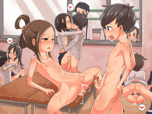 Rating: Explicit Score: 20 Tags: 3boys 6+girls anus black_hair blush child_on_child closed_mouth clothed_female_nude_female clothed_female_nude_male clothed_male_nude_female clothed_male_nude_male clothed_sex collarbone cum cum_in_pussy desk drooling erection eyebrows_visible_through_hair flat_chest floor group_sex half-closed_eyes hetero imuneko leaning_back long_sleeves lying mating_press multiple_boys multiple_girls nude on_back open_clothes open_mouth open_shirt orgy original penis pussy saliva school school_uniform sex shiny shiny_skin shirt shoes short_hair skirt spread_legs standing testicles textless tongue tongue_out uncensored vaginal window wooden_floor User: Domestic_Importer