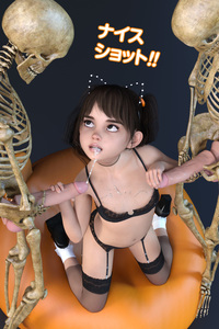 Rating: Explicit Score: 30 Tags: 1girl 2boys 3dcg animal_ears cat_ears cum cum_in_mouth cum_on_body cumdrip flat_chest group_sex hairband kneeling multiple_boys navel penis photorealistic poki shoes skeleton socks testicles thighhighs threesome twin_tails User: fantasy-lover