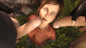 Rating: Explicit Score: 8 Tags: 1girl 2boys 3dcg age_difference blue_eyes ellie_(the_last_of_us) freckles gloves gun imminent_fellatio looking_up multiple_boys penis penis_awe penis_on_face photorealistic rolling_eyes standing testicles venomous_sausage weapon User: fantasy-lover