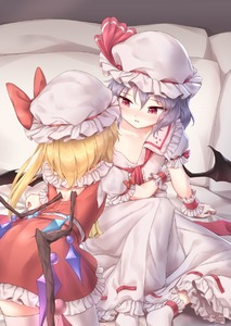 Rating: Safe Score: 0 Tags: 2girls arm_support ascot ass back_cutout bat_wings bed blue_hair bow clenched_hand collarbone cowboy_shot crystal dress feet_out_of_frame flandre_scarlet frilled_shirt_collar frills from_behind hat hat_bow hat_ribbon highres incest indoors knee_up kneeling long_hair looking_at_another miniskirt minust mob_cap multiple_girls off_shoulder one_side_up parted_lips petticoat pillow puffy_short_sleeves puffy_sleeves red_bow red_eyes red_neckwear red_ribbon red_skirt red_vest remilia_scarlet ribbon ribbon-trimmed_dress ribbon_trim short_hair short_sleeves siblings sisters sitting skirt slit_pupils socks thighhighs thighs touhou_project vest white_dress white_hat white_legwear wings wrist_cuffs yellow_neckwear yuri zettai_ryouiki User: DMSchmidt