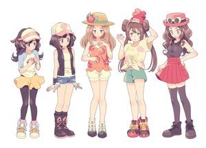 Rating: Safe Score: 1 Tags: 5girls baseball_cap blonde_hair brown_hair cosplay costume_switch creatures_(company) denim denim_shorts double_bun exposed_pocket eyewear_on_head flower game_freak hair_bun hat hat_flower highres komasawa_(fmn-ppp) legwear_under_shorts mei_(pokemon) mizuki_(pokemon) multiple_girls nintendo orange_shirt pantyhose pokemon pokemon_(game) pokemon_bw pokemon_bw2 pokemon_sm pokemon_usum pokemon_xy red_hat serena_(pokemon) shirt short_shorts shorts sun_hat thighhighs touko_(pokemon) twin_tails visor_cap yellow_shorts User: Domestic_Importer