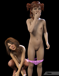 Rating: Explicit Score: 19 Tags: 2girls 3dcg barefoot brown_hair flat_chest fmako_(artist) freckles looking_at_viewer multiple_girls navel nipples nude pantsu pantsu_pull photorealistic pose pussy red_hair shadow smile squatting standing underwear yuri User: fantasy-lover