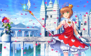 Rating: Safe Score: 1 Tags: 1girl bloomers blue_sky blurry blurry_background brown_hair building capelet cardcaptor_sakura crown day dress flower gloves green_eyes highres holding kinomoto_sakura looking_to_the_side mini_crown mutsuki_(moonknives) open_mouth outdoors petals see-through short_hair sky smile solo standing underwear white_gloves yume_no_tsue User: DMSchmidt
