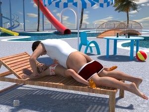 Rating: Explicit Score: 47 Tags: 1boy 1girl 3dcg age_difference ass ball barefoot blonde_hair flat_chest flip-flops hermione_(weihpos) highres looking_up lying nail_polish open_mouth photorealistic pool rape sandals scared shadow sophiew_lolicon_3d sunscreen teeth water_park weihpos User: fantasy-lover