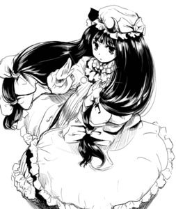 Rating: Safe Score: 0 Tags: 1girl long_hair low-tied_long_hair monochrome patchouli_knowledge solo touhou_project yuu_(kfc) User: DMSchmidt