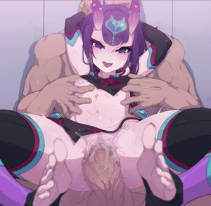 Rating: Explicit Score: 4 Tags: 1boy 1girl anus ass bangs bare_shoulders black_legwear blush breasts carrying chinese_clothes detached_sleeves dudou eyeliner fate/grand_order fate_(series) feet forehead_jewel fundoshi headpiece heart hetero horns japanese_clothes kakure_eria lifting_person looking_at_viewer makeup navel nipples no_shoes oni oni_horns penis purple_eyes purple_hair pussy sakata_kintoki_(fate/grand_order) sex short_hair shuten_douji_(fate/grand_order) shuten_douji_(halloween_caster)_(fate) small_breasts smile soles solo_focus spread_legs sweat thighs toeless_legwear toes uncensored vaginal User: Domestic_Importer