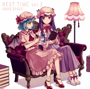 Rating: Safe Score: 0 Tags: 2girls ankle_boots ankle_socks arms_up bangs bat_wings blouse blue_hair book book_stack boots brooch couch cravat cup double_bun dress english eyebrows_visible_through_hair floor_lamp hat hat_ribbon holding holding_book holding_cup holding_saucer jewellery kashiwagi_chisame long_hair looking_at_another looking_at_viewer mob_cap multiple_girls neck_ribbon open_book open_mouth patchouli_knowledge pink_blouse pink_skirt puffy_short_sleeves puffy_sleeves purple_dress purple_eyes purple_hair red_eyes red_footwear red_ribbon remilia_scarlet ribbon robe saucer short_hair short_sleeves sitting skirt skirt_set striped striped_dress teacup touhou_project very_long_hair white_footwear white_legwear wings User: DMSchmidt