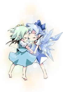 Rating: Safe Score: 1 Tags: 2girls barefoot blue_hair bow cirno daiyousei fairy green_hair hair_bow ham_(points) multiple_girls pointy_ears short_hair side_ponytail team_shanghai_alice touhou_project wings User: DMSchmidt
