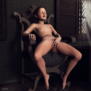 Rating: Explicit Score: 19 Tags: 1girl 3dcg armchair blush breasts brown_hair closed_eyes fingering long_hair masturbation nude open_mouth photorealistic pussy roadkill small_breasts solo tongue tongue_out User: yobsolo