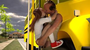 Rating: Explicit Score: 22 Tags: 1boy 1girl 3dcg age_difference ass ass_grab closed_eyes held_up kiss long_hair lunarctic outdoors penis photorealistic red_hair school_bus sex shcoolbus shoes socks standing testicles vaginal User: fantasy-lover