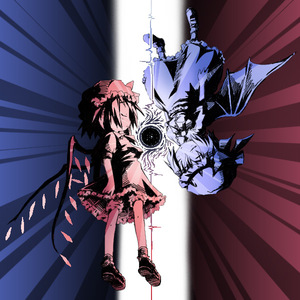 Rating: Safe Score: 0 Tags: 2girls blue flandre_scarlet ham_(points) monochrome multiple_girls multiple_monochrome remilia_scarlet rotational_symmetry siblings sisters team_shanghai_alice touhou_project User: DMSchmidt