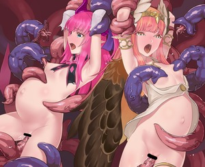 Rating: Explicit Score: 3 Tags: 2girls armlet armpits bar_censor big_belly blue_eyes censored circe_(fate/grand_order) curled_horns dragon_girl dragon_horns elizabeth_bathory_(fate) elizabeth_bathory_(fate)_(all) eyebrows_visible_through_hair fate/extra fate/extra_ccc fate/grand_order fate_(series) feathered_wings flat_chest highres hikichi_sakuya horns inflation long_hair looking_at_viewer multiple_girls navel open_mouth pink_hair pointy_ears purple_ribbon restrained ribbon saliva sex sweat tentacles tiara torn_clothes vaginal wings User: DMSchmidt
