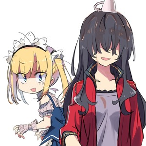 Rating: Safe Score: 0 Tags: 2girls :d absurdres amaryllis_class bangs black_hair blonde_hair blue_eyes blue_skirt blush character_request cup eyebrows_visible_through_hair fang gloves hair_between_eyes hair_over_eyes headdress highres jacket kotohara_hinari long_hair looking_at_viewer looking_to_the_side maid_headdress multiple_girls open_clothes open_jacket open_mouth pleated_skirt puffy_short_sleeves puffy_sleeves purple_shirt red_jacket ribbed_gloves shaded_face shirt short_sleeves simple_background skirt smile spill tama_(tama-s) teacup track_jacket twin_tails virtual_youtuber white_background white_gloves white_shirt User: DMSchmidt