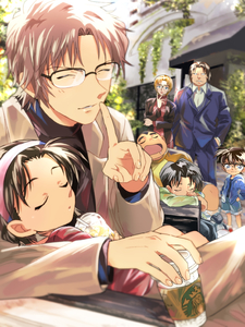 Rating: Safe Score: 0 Tags: 2girls 5boys andre_camel bangs black_hair blonde_hair blue_pants blue_shirt blue_shorts brown_hair closed_eyes edogawa_conan finger_to_mouth formal glasses green_shirt hairband hand_in_pocket highres holding jodie_starling kojima_genta meitantei_conan multiple_boys multiple_girls okiya_subaru pants parted_bangs pink_hairband red_shirt red_sweater shirt short_hair shorts shushing sleeping starbucks suit temk tsuburaya_mitsuhiko yoshida_ayumi User: DMSchmidt