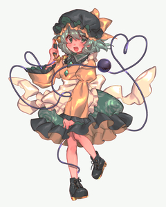 Rating: Safe Score: 0 Tags: 1girl apron black_footwear blush earpiece eyebrows_visible_through_hair eyelashes floral_print frilled_apron frilled_sleeves frills green_eyes green_hair green_skirt hat hat_ribbon highres komeiji_koishi long_sleeves maid_apron masanaga_(tsukasa) mob_cap phone puffy_sleeves ribbon shirt shoes short_hair skirt smile third_eye touhou_project upper_teeth yellow_shirt User: DMSchmidt