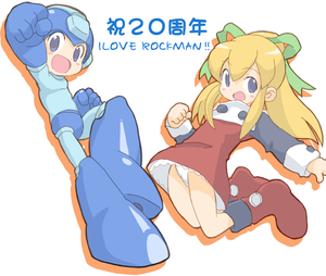 Rating: Safe Score: 1 Tags: 1boy 1girl bad_id boots capcom core_(mayomayo) knee_boots pantsu red_skirt rockman rockman_(character) rockman_(classic) roll skirt underwear User: DMSchmidt