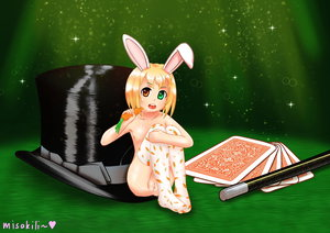 Rating: Explicit Score: 4 Tags: absurdres animal_ears blonde_hair bunny_ears carrot hat highres magician misakili original playing_cards pussy_juice pussy_juice_stain pussy_juice_trail socks top_hat User: lalilu1234