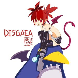 Rating: Safe Score: 1 Tags: 1girl absurdres bandeau bangs bare_shoulders black_bandeau black_choker black_gloves black_legwear black_skirt boots choker copyright_name dated demon_girl demon_tail demon_wings disgaea earrings elbow_gloves etna flat_chest gloves grey_footwear highres holding jewellery knee_boots leaning_forward mibushido_(milking) navel o-ring o-ring_choker petite prinny red_eyes red_hair short_hair simple_background sitting skirt skull skull_earrings slit_pupils solo tail tail_raised thighhighs tsurime very_short_hair white_background wings zettai_ryouiki User: DMSchmidt