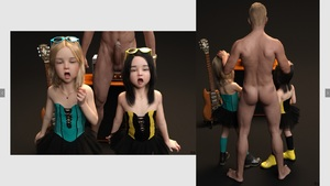 Rating: Explicit Score: 6 Tags: 1boy 2girls 3dcg after_fellatio age_difference ass barefoot black_hair blonde_hair blue_eyes boots clothed_female_nude_male dress flat_chest guitar hand_on_another's_head metal_candy multiple_girls nude open_mouth penis photorealistic pose pubic_hair shadow siro socks standing swallowing testicles User: fantasy-lover