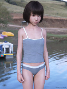 Rating: Safe Score: 4 Tags: 1girl 3dcg asian kein outdoors photorealistic solo standing underwear User: laylomo