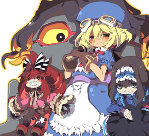 Rating: Safe Score: 1 Tags: 3girls apron bag blonde_hair blue_hat bow cape curly_hair dangomushi dress fang garie_tuman gloves goggles goggles_on_head hat leiur_darahim long_hair marivel_armitage micha_jawkan multiple_girls pointy_ears red_eyes ribbon senki_zesshou_symphogear smile solo wild_arms wild_arms_2 User: DMSchmidt