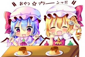 Rating: Safe Score: 0 Tags: +_+ 2girls arm_above_head arms_up bat_wings blonde_hair blouse blue_hair blush brooch chibi chocolat_(momoiro_piano) closed_eyes cravat crystal drooling eyebrows_visible_through_hair fang flandre_scarlet food hair_between_eyes hand_on_own_cheek hat hat_ribbon holding holding_spoon jewellery mob_cap multiple_girls open_mouth pink_blouse plate pudding puffy_short_sleeves puffy_sleeves red_neckwear remilia_scarlet ribbon short_hair short_sleeves siblings side_ponytail simple_background sisters smile spoon table touhou_project translation_request upper_body white_background wings yellow_neckwear User: DMSchmidt