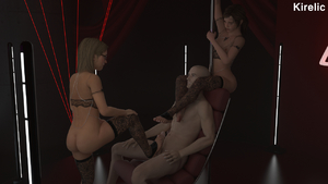 Rating: Explicit Score: 8 Tags: 1boy 2girls 3dcg cassie_drake ellie_(the_last_of_us) kirelic lingerie multiple_girls photorealistic stripper_pole the_last_of_us thighhighs uncharted uncharted_4_a_thiefs_end User: cugomi