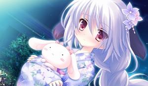 Rating: Safe Score: 4 Tags: 1girl hair_ornament japanese_clothes kimono long_hair purple_hair red_eyes stuffed_animal stuffed_bunny stuffed_toy tree tsukumo_(tsukumonotsuki) tsukumonotsuki User: Fui