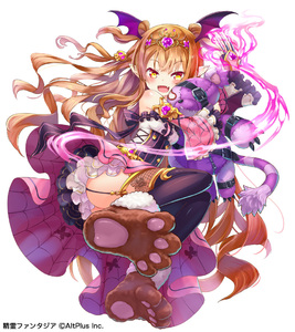 Rating: Safe Score: 1 Tags: 1girl animal_print bare_shoulders bat_wings belt brown_hair butterfly_print claw_(weapon) detached_sleeves dress energy eyebrows_visible_through_hair fangs fantasy from_below full_body garter_straps hair_ornament head_wings heart kanipanda long_hair looking_at_viewer looking_down object_hug open_mouth original paws pointy_ears purple_dress purple_legwear simple_background skull_hair_ornament sleeveless sleeveless_dress spider_web_print stuffed_animal stuffed_toy thighhighs tiara two_side_up underbust vampire very_long_hair weapon white_background wings yellow_eyes zettai_ryouiki zipper User: DMSchmidt