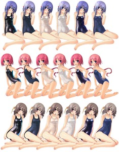 Rating: Questionable Score: 1 Tags: 3girls absurdres blue_eyes blue_hair blush braid breasts brown_hair hair_bobbles hair_ornament highres huge_filesize kneeling long_hair multiple_girls one-piece_swimsuit pink_hair purple_hair sakuya_tsuitachi school_swimsuit shiny shiny_clothes short_hair sukumizu_tabe_houdai sukumizu_tabehoudai swimsuit twin_braids variations wet User: DMSchmidt