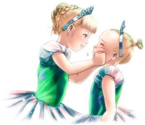 Rating: Safe Score: 2 Tags: 2girls ballerina blonde_hair cheek_squash multiple_girls original s_zenith_lee tiara User: DMSchmidt