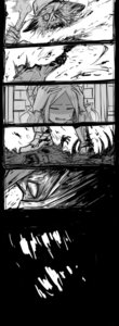 Rating: Safe Score: 0 Tags: 1boy 1girl abigail_williams_(fate/grand_order) absurdres black_background bloodborne boots bow closed_eyes comic cowering crossover dismemberment fate/grand_order fate_(series) greyscale hair_bow hands_on_another's_shoulders hat highres hunter_(bloodborne) kan_(aaaaari35) long_sleeves monochrome scarf sweatdrop teeth torch veins weapon User: DMSchmidt